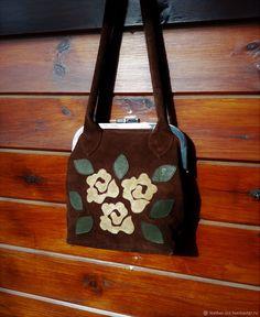 901766bc0d1a Женские сумки ручной работы. Ярмарка Мастеров - ручная работа. Купить  Замшевая сумка с розами