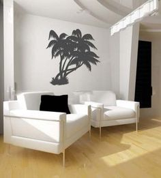 Contemporary Interior Design Room Ideas: Easy On The Eye Tropical Themed Living Room Interior With Coconut Three Ornament On White Painted Wall Design And Decoration Inside Your Dream House ~ wiligear.com Interior Design Inspiration