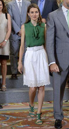 El estilo de la reina Letizia de espana esos zapatos