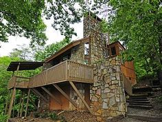 Unique One Bedroom Spectacular Mountain View with hot tub on deckVacation Rental in Gatlinburg from @homeaway! #vacation #rental #travel #homeaway