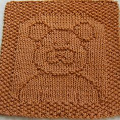 Free Knitting Pattern - Dishclothes & Washcloths : Ted E. Bear Cloth