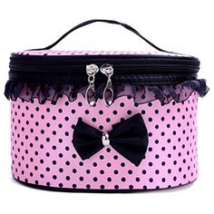 Cosmetic Bags Toraway Portable Travel Toiletry Organizer Holder Handbag Makeup Cosmetic Bag Pink -- Check out the image by visiting the link. Note:It is Affiliate Link to Amazon.