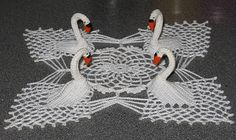 Ravelry: 4 Swan Doily pattern by Coats & Clark (for someone who has more patience than me) Pattern is in jpg foremat