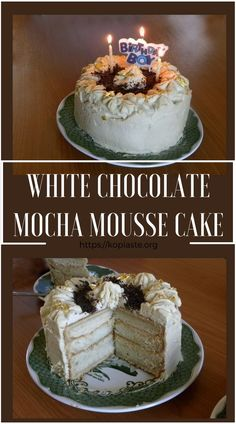 Angel food cake is a sponge made using only the egg whites.  It originated in the United States and gained its popularity in the late 19th century. It was named Angel food cake because of its white, fluffy, light and delicate texture.  #angel_food_cake #mocha_mousse_cake #white_chocolate_cake #birthday_cake #kopiaste #egg_whites