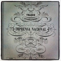 portuguese 1858 type piece from Taschen book - Type. A Visual History of Typefaces & Graphic Styles, 1628–1900.