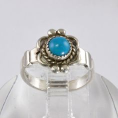Vintage Sterling Silver and Turquoise Ring  by affordablevintage4U, $20.00