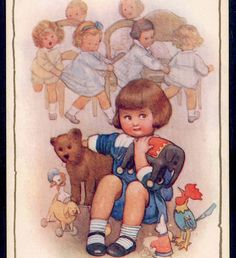 """Susan B PEARSE..1878-1980 """"HIS FIRST PARTY"""" SHY BOY WON'T JOIN GAME,PULL TOY,TEDDY,POSTCARD   eBay"""