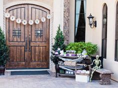 Take the Fun Outside - Halloween Trick-or-Treat Candy Station on HGTV styled by The TomKat Studio