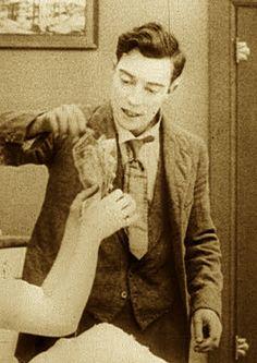 Buster Keaton makin it rain.