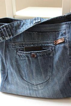bcb54c6c8f0c73 Borsa denim riciclato Recycle design pronto ad andare borsa | Etsy Borsa Di  Jeans, Denim
