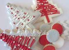 Lizy B: Homespun Christmas Tree Cookie - idea for decorating Christmas cookies