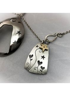 handmade and upcycled spoon love grows necklace