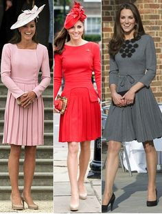 Three favorite Kate Middleton looks, in pleats
