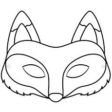 Frog cut out template frog mask colouring pages diy for Fantastic mr fox mask template