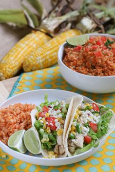 Grilled Lime Chicken Tacos with Corn Salsa #WhatAGrillWants