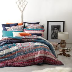 Ltd. by Logan & Mason - Harvest Magenta Quilt Cover Set - Ben Linen #bedroom #magenta #boho
