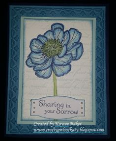 Sympathy Card Stampin Up using bloom with hope and blendabilities