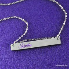 Write Your Name On Silver Chain Locket Online Free.