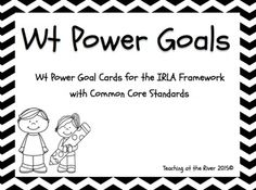 These Power Goal Cards can be used with the IRLA Framework