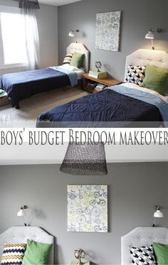You don't have to sacrifice style when decorating on a budget!  Come get lots of budget friendly ideas complete with sources from my Boys Bedroom Makeover!