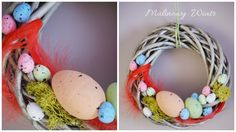 Wianek Wielkanocny, dekoracja wielkanocna, 20cm https://www.facebook.com/malinowywiatr/