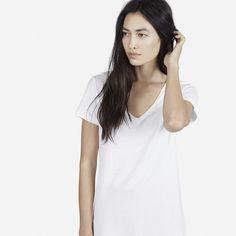 Everlane The Cotton V in White, $16.20
