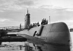August 3, 1958, the USS Nautilus (SSN-571),  the world's first operational nuclear-powered submarine, becomes the first vessel to cross the North Pole  underwater.