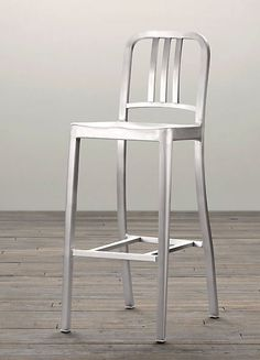 Incroyable Navy Bar Stool From Emeco: First Built For Use On Submarines In The Navy  Chair Has Been In Continuous Production Ever Since. Made From Recycled  Aluminum It ...