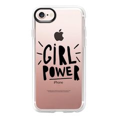 Girl Power - iPhone 7 Case And Cover (145 PLN) ❤ liked on Polyvore featuring accessories, tech accessories, phone, phone cases, cases, tech, iphone case, clear iphone case, apple iphone case and iphone cases