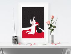 Excited to share the latest addition to my #etsy shop: GLAMOUR - Erotic Art, Erotic Wall Art, Sensual Art, Fashion Print, Home Decor, Home Print, Illustration, Prints, Painting, A4/A3 - PDPR44