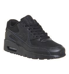 best service 3c261 09210 Nike Air Max 90 Gs Black - Hers trainers Air Max 90, Nike Air Max