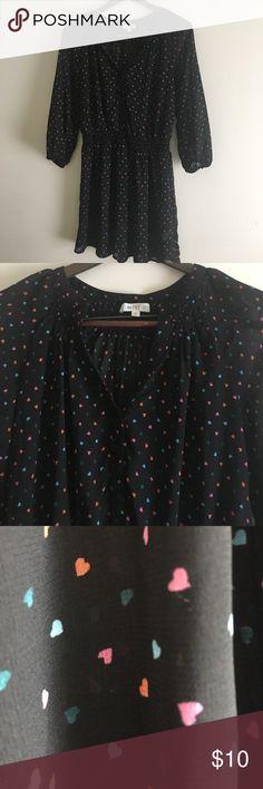 Short black dress Short black dress with colored heart Dresses Mini