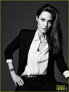 Angelina Jolie Discusses 'Real, Deep' Relationship with Brad Pitt & Casting Her Kids in 'Maleficent' to 'Elle'   angelina jolie elle june 20...