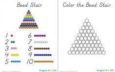 """If you have a young child who is interested in math, the Montessori method of using beads to represent quantities is a great place to start. This is a part of the whole """"concrete to abstract&… Montessori Practical Life, Montessori Homeschool, Montessori Elementary, Montessori Classroom, Montessori Toddler, Montessori Activities, Elementary Teaching, Kids Math Worksheets, Montessori Materials"""