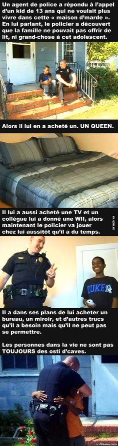 Un agent de police a répondu à l'appel d'un enfant de 13 ans qui ne voulait plus vivre dans cette « maison d'marde »...