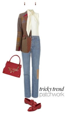 """""""Patchwork Denim"""" by polylana ❤ liked on Polyvore featuring Dsquared2, Yves Saint Laurent, Etro, TUA by Braccialini, Sesto Meucci, DANNIJO and patchworkdenim"""