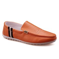 Slip-On Stitching PU Leather Loafers #>=#>=#>=#>=#> Click on the pin to check out discount price, color, size, shipping, etc. Save and like it!