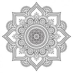 Beautiful Mandala Design - Can be imported into Cricut Design Space - Cricut - Design Space - Mandala - Pretty - Image - Detail - flowers - Ideas