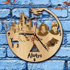 Harry Potter Wall Art Wood Clock harry potter map harry potter