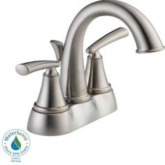 Centerset 2 Handle Bathroom Faucet In Stainless 25725lf Ss Eco At The Home Depot Mobile
