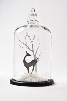 Winter scene under glass #Winter #Style #WinterBeauty www.facebook.com/EssencetoSuccess                                                                                                                                                                                 More