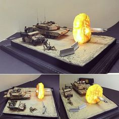 An impressive conversion that depicts the explosion of a tank cannon as it shoots. Will definitely remember for my future projects.