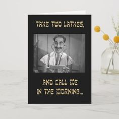 Shop Groucho Take Two Latkes Hanukkah Card created by twocentsplain. Hanukkah Gifts, Christmas Hanukkah, Hanukkah Celebration, Christmas Greeting Cards, Holiday Cards, Latkes Hanukkah, Photo Cards, Photo Greeting Cards, Brothers Movie