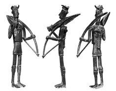 Sardinia, bronze sculpture representing archer