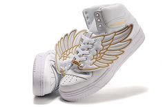 Adidas Originals Jeremy Scott JS Wings Sneaker white Gold shoes