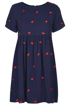 **T-Shirt Smock Dress in Bean Embroidery by The Whitepepper