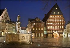 Home sweet home.... Hildesheim Marktplatz @ night