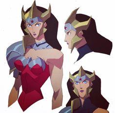 Wonder Woman Flashpoint Paradox character designs by Phil Bourassa