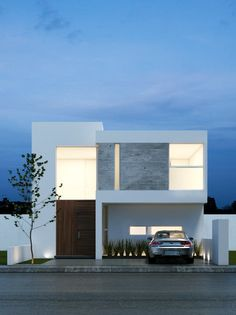 Modern home design Modern Small House Design, Modern Minimalist House, Modern House Facades, Modern Architecture, Home Building Design, Building A House, Small Villa, House Elevation, Facade Design