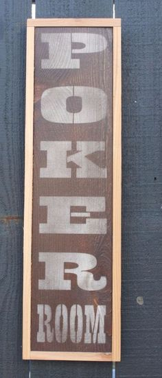 Search on ebay cdr3333 for more POKER ROOM sign wood gambling mancave bar garage rustic decor #Handmade #RusticPrimitive